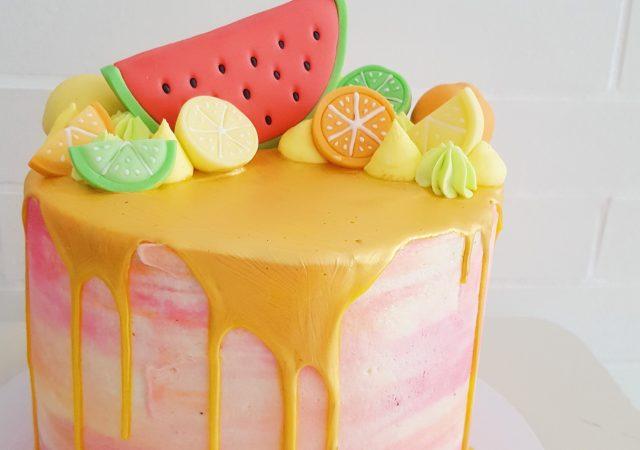 Tropical Drip Cake